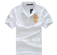 Free Ship Via EMS Host Wholesale Summer Emboridery O Neck Fashion Print 100% Pure Cotton T Shirts