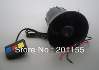 DC12V 60W Siren Horn 3 Tone Speaker Black for Auto Car