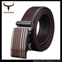 HOT Fashion belt MEN'S Genuine Leather Strap mens Belts for men belts is men Automatic Buckle brown free shipping105~130 size