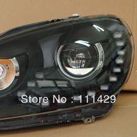 Black R20 style Golf 6 MK6 LED headlamp