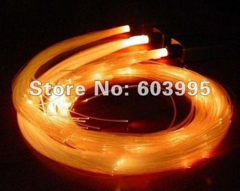 100M length 3.0mm diameter side glow fiber optic and AC100-240V light engine,EMS/DHLFree shipping.