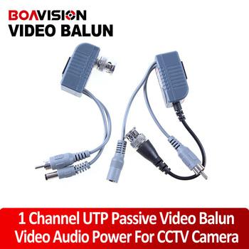 CCTV CAT5 RJ45 Balun Video Audio Power For Camera Passive Video Balun Transceiver