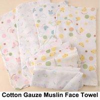 10pcs New Baby Cotton Gauze Muslin Face Towel Wipe Saliva Washcloth Handkerchief Free Shipping