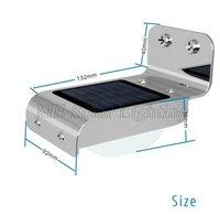 Wholesale Solar Motion Sensor PIR light  16 LED + Ray Motion Sensor  for security 30pcs/lot Free shipping