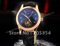 Free shipping.Stainless steel + hollow + genuine leather strap luxury automatic mechanical movement  Wrist Watch Gentleman Watch