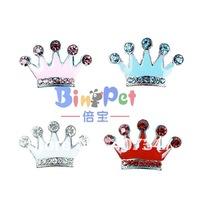 Free Shipping!MOQ 24 pcs can mix  4 colors,10mm enamel crown sliders for personalzed pet collars