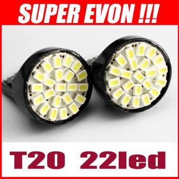 T20 22 LED 1206 SMD Light Bulbs 7443 7441 7440 direction indicator lamp backup light white 12V 20pcs/lot #CL0051#20
