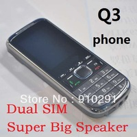 Super Big Speaker Q3 Unlocked GSM Dual SIM Bluetooth Cheap Mobile Phone Can With Russian Keyboard Free Shipping