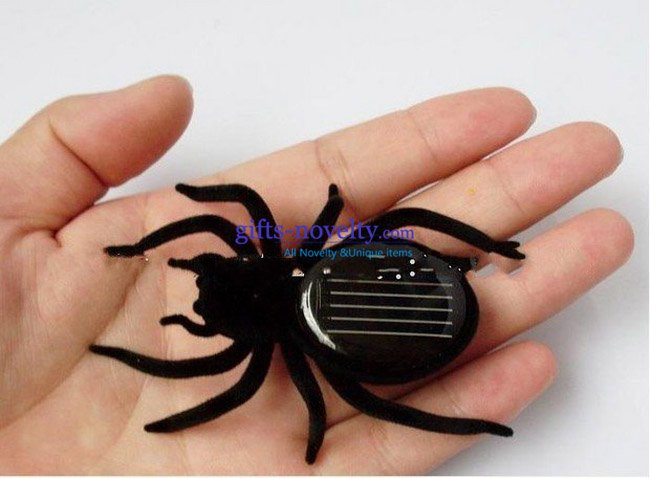 wholesale 300pcs/lot solar powered spider educational toys Gifts for 2011 April fools Day