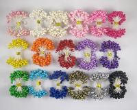Free shipping wholesale Mixed colors DIY pearl flower stamen cake decoration and DIY pistil stamen(1300pcs/Lot ) 002009