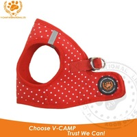 Free shipping !easy-walk soft cotton dog step dog harness in 5 colour collection with dotty style ! Dog accessories