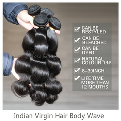 Retail:3pcs/lot,queen virgin hair body wave,indian hair popular textures with shipping free(China (Mainland))