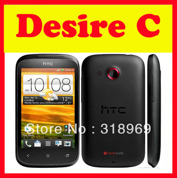 Original HTC Desire C Unlocked Mobile Phone A320E Android 4.0 3G Smartphone WIFI GPS 5MP Camera Quad-Band Free Shipping