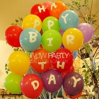 Shipping Free 'HAPPY BIRTHDAY' 12 inch balloons FROM South Korea, Best Gift for BIRTHDAY