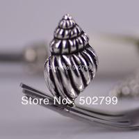 Wholesale 60PCS Tibetan silver Conch Shells pendant TS6047