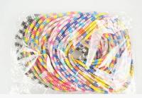 100pcs/bag  Free Shipping Colorful Slim Long Telephone Line Rubber Elastic Hair Bands Rope Bracelet Headband Phone Data Line
