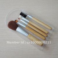 Free shipping 5pcs cosmetic brush set,makeup brush set with bamboo handle