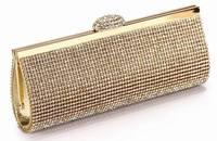We Best Price Diamond Eveningbag High Grade Full Rhinestone Dinner Bag/Clutch Purse/Bridal Wedding Bag NO3086 black silver&gold