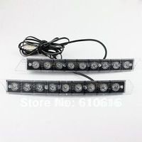 2x 9-LED Daytime Running Light Day Fog Lamp DRL Super White 12V DC