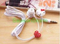 Retail  Cute Hello Kitty Cartoon In-Ear Earphone  (SI-22)