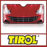 T10372b Red Smile Car Foldable Windshield Sunshade/ Tirol High Quality Front Aluminum Foil Sun Shade Promotion
