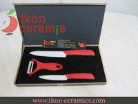 Free Shipping! High Quality Zirconia New 100% 3-pieces AJX Ceramic Knife sets(AJ-TZ3W-SH-BR)