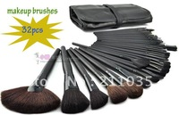 Hot Sale high quality synthetic hair 32 Pcs Makeup Brush Cosmetic Set Kit hardcover 32 pcs Set + Soft Case