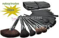Hot Sale high quality synthetic hair 32 Pcs Makeup Brush Cosmetic Set Kit hardcover 32 pcs Set + Soft Case R96