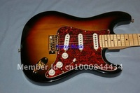 2013 new arrival + free shipping + guitar factory + F ST 250 custom electric guitar, sunburst colour with good maple fingerboard
