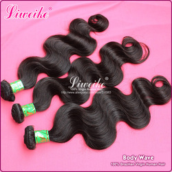 "queen hair products body wave brazilian virgin hair extension 3pcs/lot 12""-30"" shedding and tangles free(China (Mainland))"