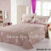 Free Shipping Fashion 100% Cotton Print Bed Sheet HT-YCTPBSS-S-6-10