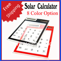 Free Shipping Solar Power Calculator with Transparent Touch Pad  - 8 Color Option