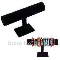 23cm x 14cm velvet bracelet display ,1 row black bracelet/bangle/watch jewelry display stand+ free shipping
