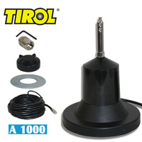 T17033a 1,000 Watt AM CB Antenna Capable High Quality Magnet Mount  Stainless Steel Whip Amateur Antenna Freeshipping