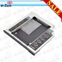 laptop 9.5 mm SATA to SATA Aluminum 2nd HDD caddy for  Dell Latitude E6400 E6500 E6410 E6510 E4300