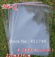 Free shipping(100pcs/lot) opp bag,A4 paper packaging plastic bag 22 x 34 cm