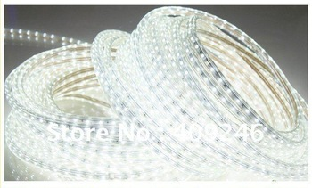 10M/Roll+Plug 5050 LED strip 220V high voltage white,cold white,rgb 5050 Tube Waterproof flexible SMD led strip