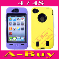 Heavy Duty Tough Hyper Hard Case Cover For iPhone 4 4G 4S