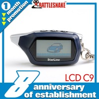 8 Anniversary of establishment   Free shipping  LCD remote   Starline C9   two way car alarm sytem Certification with CE