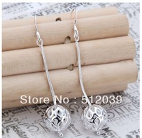 Wholesale Mexico Taxco Sophisticated Long Stick Ball Dangle Satin Silver Earrings Vintage Jewelry  CLOVER1121K/E167