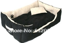 Free shipping,Clasic pet products,dog bed,classic faux Suede fabric,light beigh,with paw,1pc for sell