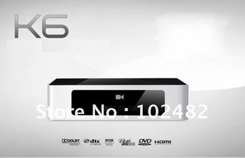 1080P HD MEDIA PLAYER Mini Full 3D REALTEK 1186DD with Android 2.0+OS LINUK KIUI3.0 TV BOX of KBe K6