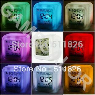 Free shipping Glowing Led Color Change Digital Alarm Clock 8052