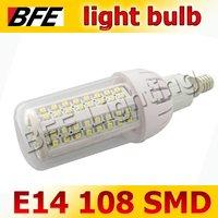 4pcs/Lot E14 108 LED 3528 SMD 360 Degree Warm/Cool White Corn LED Lamps Light Bulbs Energy Saving