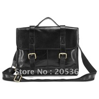 Shiny Vintage Leather Laptop Bag  Messenger Bag handbag Briefcase For Men  # 7101A