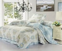Export European Noble Tencel 4pcs bedding set king size Luxury silk comforter set duvet cover bed sheet bedclothes set