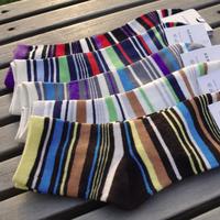 2014 fall autumn new fashion colorful stripes comfortable breathable cotton men/man sports socks,10pairs,wholesale