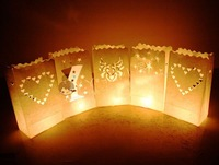Free shipping 10PCS/LOT Paper Lantern Candle Bag for wedding party decoration
