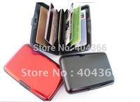 1000pcs/lot Free shipping Aluminum Credit card wallet colors mixed card cases card holder wallets