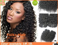 3pcs/lot Good Price 100% Malaysian Human Hair Deep Curl 12-30 inch color 1b Fast free shipping